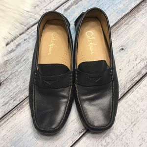 Cole Haan leather dark blue loafers size 8